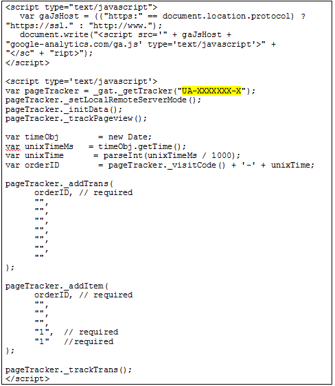 ga-ecommerce-code