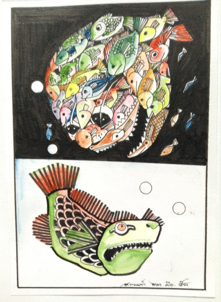 ขอบคุณภาพนี้จากคุณ Sakarn Wanaphong ที่วาดภาพจากแรงบันดาลใจหัวข้อนี้ออกมาครับ