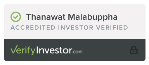 I'm verified as an Accredited Investor