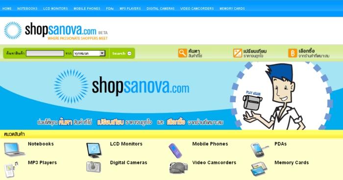 Shopsanova ผู้ให้กำเนิด Priceza
